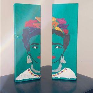 Accessories - Young Frida Bookend Canvas - Original Art